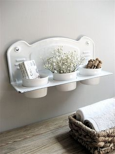 love this for either a laundry room or in a bathroom