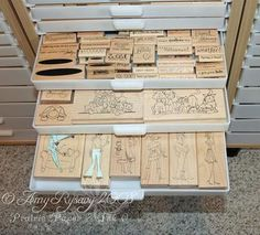#papercraft #stamp #organization  Cindy baker this made me thing of u and miss patty!!