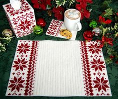 Nordic Redwork Christmas Plastic Canvas Pattern, $7 on Etsy