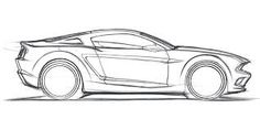 drawing of ford mustang 66 - Buscar con Google