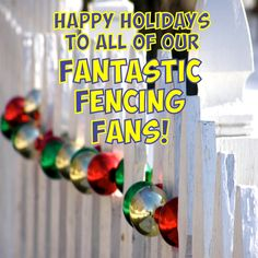 Obelix Fencing would like to wish all of their Fabulous Fencing Fans a Fantastic holiday season! And when we say Fans we mean all of our supporters, followers, suppliers, staff and customers! 2016 has been a tough but rewarding 1st year in business but every month we have grown from strength to strength, which could not have happened without every single one of you! We have a lot of exciting plans for 2017... so watch this space, because we are about to take it to the next level! Gate Motors, Watch This Space, 1st Year, Social Media Design, Fencing, Happy Holidays, Followers, Strength, Fans