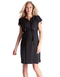 Black Woven Maternity Dress | Seraphine