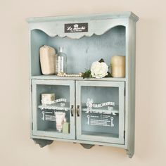 Vintage Blue French Cupboard