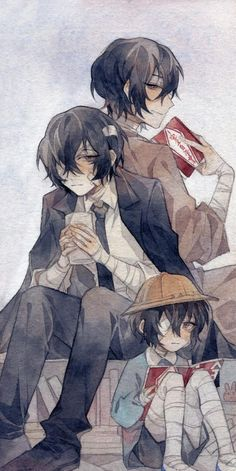 Manga Boy, Manga Anime, Otaku Anime, Anime Guys, Anime Art, Bungou Stray Dogs Wallpaper, Dog Wallpaper, Dazai Bungou Stray Dogs, Stray Dogs Anime