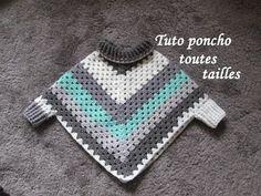 Diy Crafts - Elegant crochet granny square poncho pattern free of granny square poncho XEUZIZL Poncho Au Crochet, Crochet Poncho Patterns, Crochet Granny, Crochet Scarves, Crochet Clothes, Knit Crochet, Crochet Edgings, Freeform Crochet, Crochet Dresses