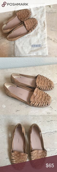 "Nisolo ""Ecuador Huarache Sandal"" in tan leather Nisolo ""Ecuador Huarache Sandal"" woven loafers in tan leather - worn only once and in like new condition (minor wear on soles from wearing once). Comes with dust bag! Nisolo Shoes Flats & Loafers"
