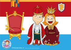 Interactieve praatplaat voor kleuters, thema Koningsdag, met veel informatieve video's, kleuteridee