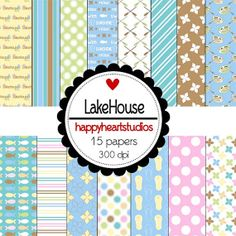 Digital Scrapbooking Lakehouse by azredhead on Etsy, $1.50