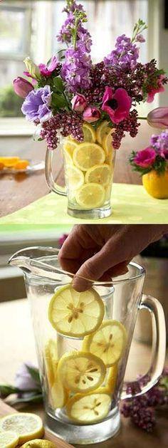 Lemons make flowers last longer!! SPRING BOUQUETS.