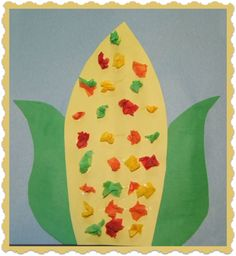 Thanksgiving corn craft and song from Kiboomu. #Thanksgiving #Corn #Crafts #Toddlers #Preschool