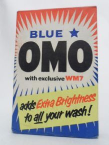 HTF Vintage Blue Star Omo WM7 Washing Powder Lever Brothers Unopened 7 1/4oz 1960s Small Size £12 #FollowVintage