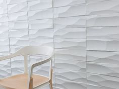 3form profile in quarry...and new custome design tools for ditto walls etc., wow! Material Design, Tool Design, Acoustic Wall, 3d Panels, Wall Finishes, 3d Wall, Textured Walls, Interior Design Inspiration, Wall Tiles