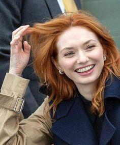 "AidanorTurnlinson on Instagram: ""Posh ""Ginger"" 💋 Gorgeous Red Hair #eleanortomlinson #aidanturner #hisfavoriteginger #us #irl #royalfun #irishfestivaltoo #cantnamewhatitis…"" Ross And Demelza, Eleanor Tomlinson, Aidan Turner, Poldark, British Actresses, Red Hair, Tv Shows, Singer, Hairstyles"