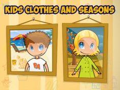 Kids Clothes & Seasons, una app para vestirse adecuadamente - Frikids