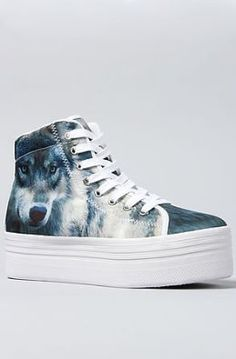 bafd34bbbb6 Jeffrey Campbell Sneakers Platform Wolf in Blue   Miss KL