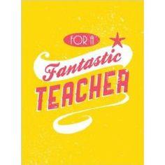 For A #Fantastic #Teacher