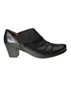 023969d7633 Black Foulard Leather Slip-On Shoe  zulilyfinds