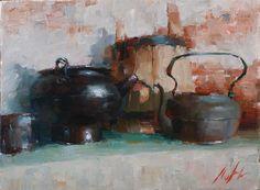 artist Likhomanov, Yuri, Still life with kettle