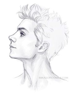 too exhausted to work on a commission, but have a need to draw *_* draw all the profiles of guys i love… ALL OF THEM