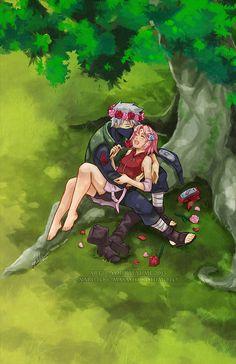 Sakura. Kakashi. And Flower Crowns. Because I can.