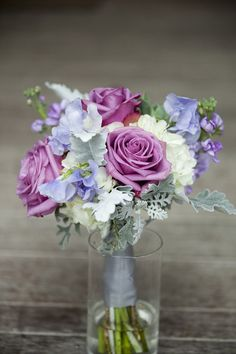 Beautiful Bridesmaids florals for a purple wedding by whim florals // Central Texas wedding // Megan The Photographer