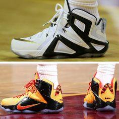 LeBron's Game 3 Shoe Close Ups LeBron 12 Elite PE & Witness GR