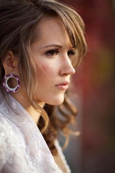 "Beautiful woman, stretched ears. Might change some people's idea of the ""kind of people"" who stretch their ears."
