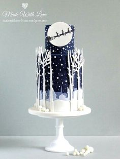 Beautiful Christmas cake by Made With Love via Shawna McGreevy's website.