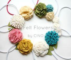 Easy DIY Layered Felt Flowers via Hopeful Honey