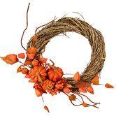 Found it at Joss & Main - Faux Pumpkin Wreath