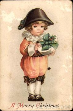A Merry Christmas Ellen Clapsaddle Children Merry Christmas Santa, Christmas Clipart, Christmas Printables, Christmas Wishes, Beautiful Christmas, Kids Christmas, Xmas, Vintage Christmas Images, Victorian Christmas