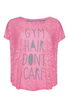 Primark - Roze trainingsshirt met sportslogan