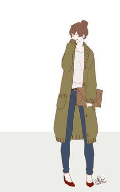 Kawaii Girl, Kawaii Anime, Character Design References, Character Art, Pandaren Monk, Avatar Cartoon, Amazing Drawings, Sketch Painting, Illustration Girl