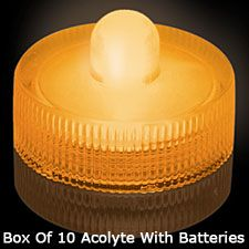 $25/10Check out the deal on Amber Waterproof Tea Light - Box Of 10 at Battery Operated Candles