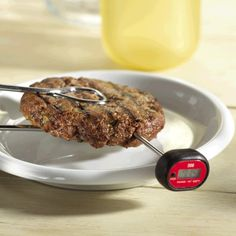 discusses ways to add Beef to your diet the importance of a meat thermometer. Nutritious and Healthy ways beef contributes to weight loss. Burger Recipes, Steak Recipes, Homemade Beef Burgers, Beef Tips, Food Safety, Test Kitchen, Food Preparation, Cooking Tips