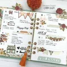 Planner layout by design team member featuring the Vintage Blessings Collection