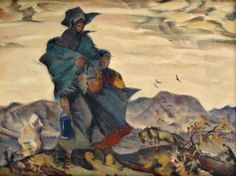 Martin Benka: V jeseni – Turiec, 1947 Illustrators, Graphic Art, Illustration Art, Tapestry, Artist, Painters, Europe, Beauty, Hanging Tapestry