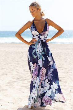 Lovers And Friends Maxi Dress Navy