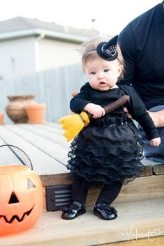 Whether you're looking for something a little more scary, silly, or cute, we've got the perfect DIY witch costume for you. Check out the best witch costumes for Halloween right here. Baby Girl Halloween, First Halloween, Halloween Party, Halloween Countdown, Halloween Halloween, Vintage Halloween, Halloween Makeup, Funny Toddler Costumes, Toddler Humor