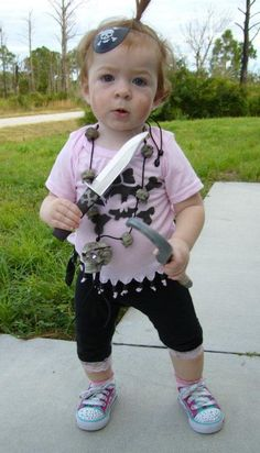 Little pirate Dollar Store Crafts, Dollar Stores, Cute Kids Halloween Costumes, Fun, Thrift Stores, Hilarious