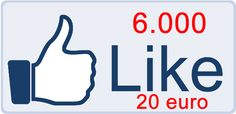 6.000 Facebook Likes 20 euro    http://www.smukke.it/6000-facebook-like-20-euro/