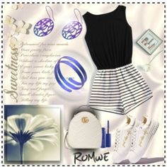 chic in town Nine Months, Romwe, Mac Cosmetics, Polyvore, Winter Fashion, Chic, My Style, Gucci, Outfits