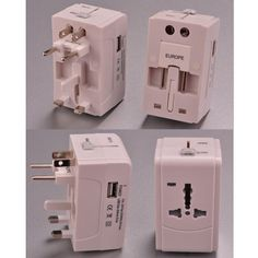 The universal travel adapter is with 4 international adaptors almost fit every country in the world