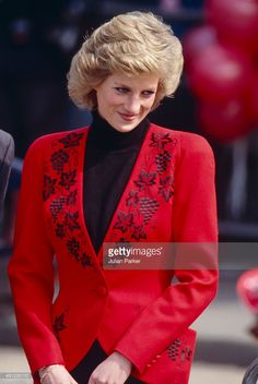 LONDON, ENGLAND - APRIL 18 Diana, Princess of Wales at the Launch of The Bike 89 Charity event, on April 18, 1989 in London, United Kingdom.