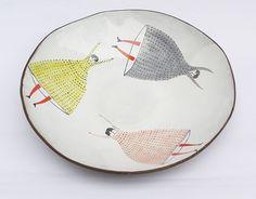 Flying girls - big bowl