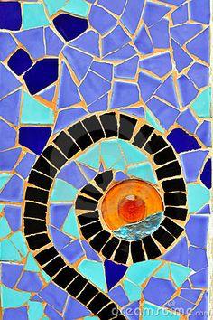 Antoni Gaudí, Park Güell mosaic