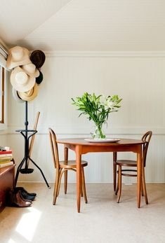 Design Sponge/ Most of furniture comes from diligent thrifting and Craigslist.