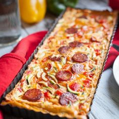 recept: paleo quiche met chorizo en gegrilde paprika