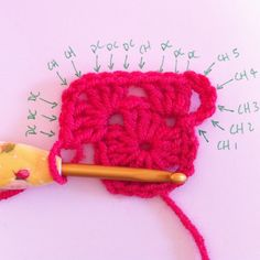 """Crochet :Granny Square Tutorial - She uses a neat trick to minimize slip-stitching along the sides, and also includes good pics on """"magic circle"""" starts.* ༺✿ƬⱤღ  http://www.pinterest.com/teretegui/✿༻"""