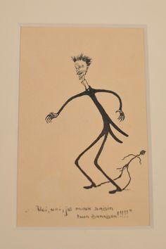 Paulaharjun kynästä syntyi myös upeita karikatyyrihahmoja. Luuppi, Oulu (Finland)